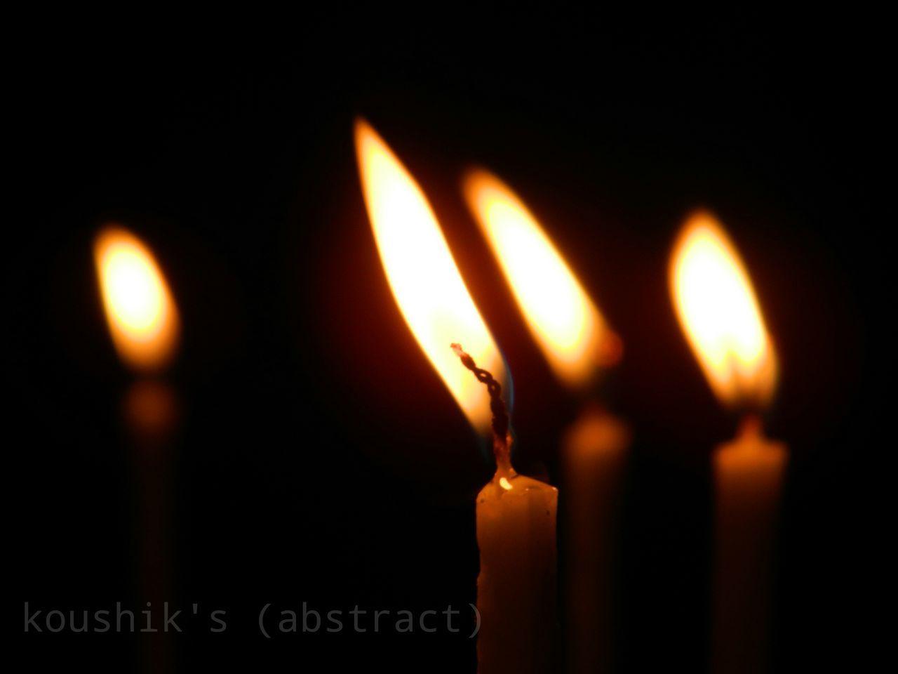 flame, burning, heat - temperature, fire - natural phenomenon, candle, glowing, illuminated, close-up, indoors, no people, darkroom, celebration, night, diya - oil lamp, black background