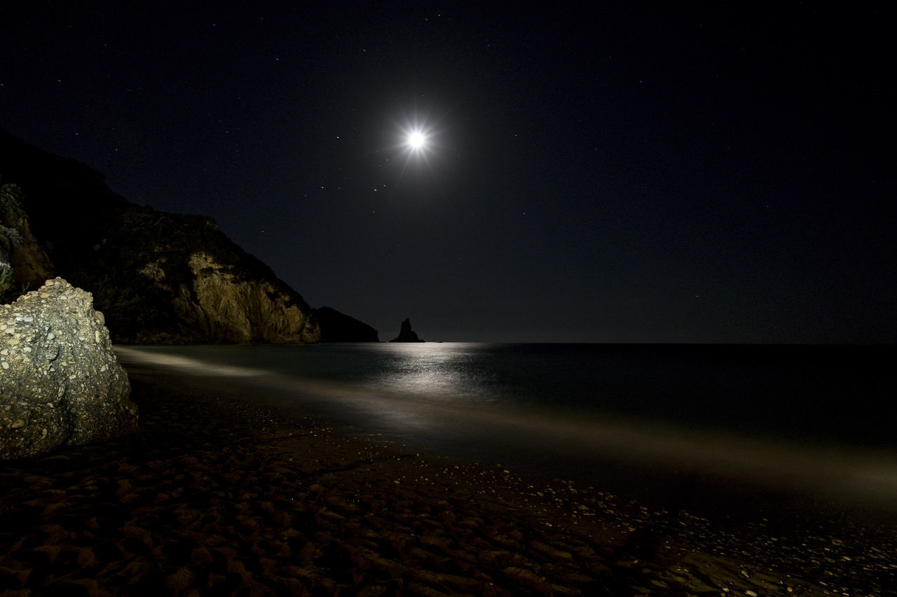 Night shoots form Beach.I like the Moon as Star Beachphotography Colour Of Life Dark Idyllic Illuminated Landscape Landscape Night Moon Moon As Star Night Night Landscape Night Lights
