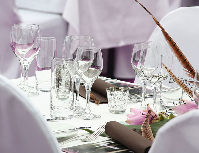 Ambience Close-up Crystal Glassware Day Drinking Glass Indoors  No People Table Table Setting Wineglass