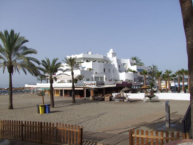 Club Maritimo Architecture Beach Blue Sky Building Exterior Built Structure Clear Sky Composition Day Marbella No People Outdoors Palm Trees Sand Sea Shadow SPAIN Sunlight Tourist Resort White Building Yaught Club
