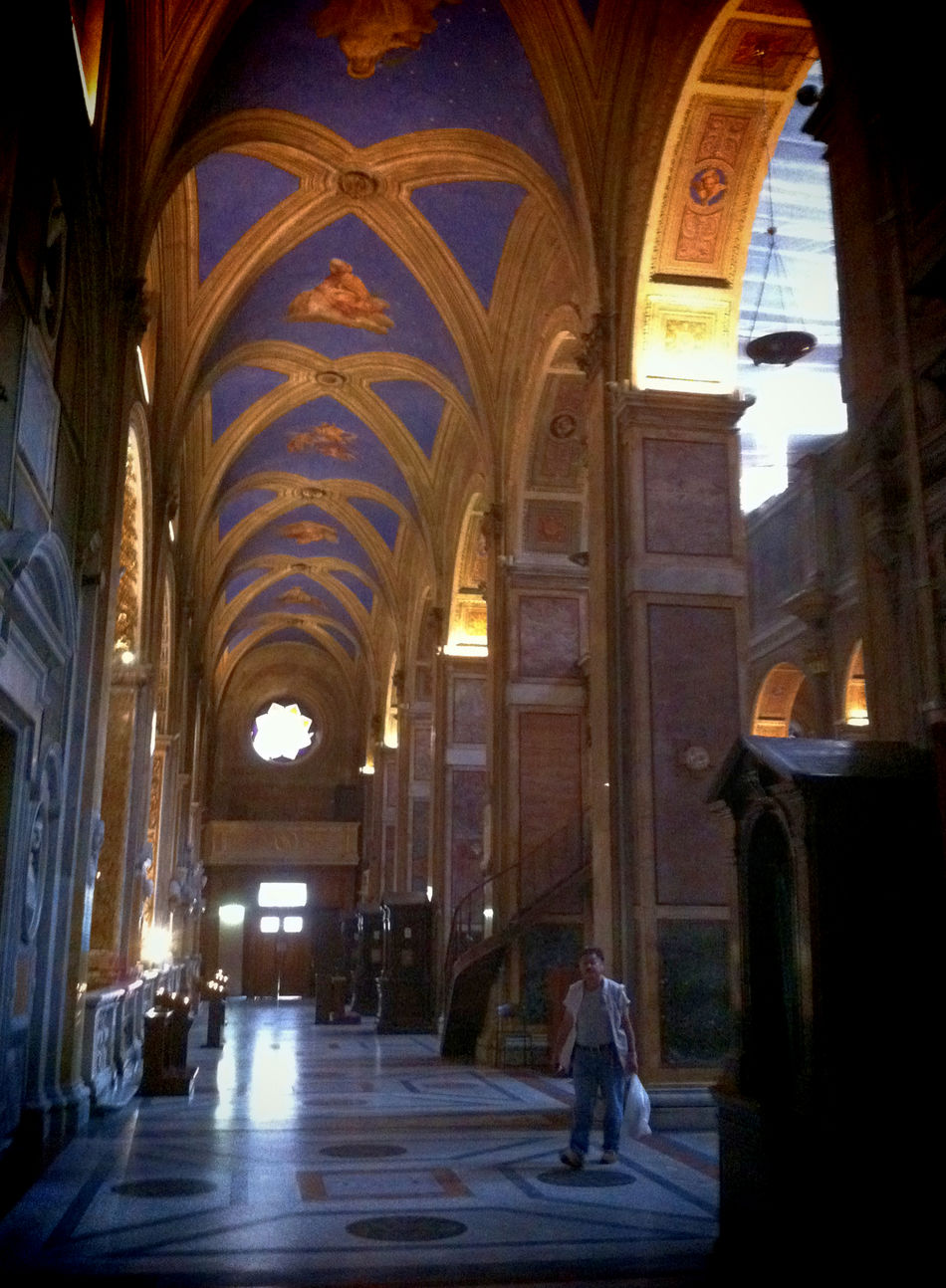 Rome, Italy Sep 2 - 4, 2011 Arch Architecture Corridor Day Indoors  People Place Of Worship Religion Sunlight