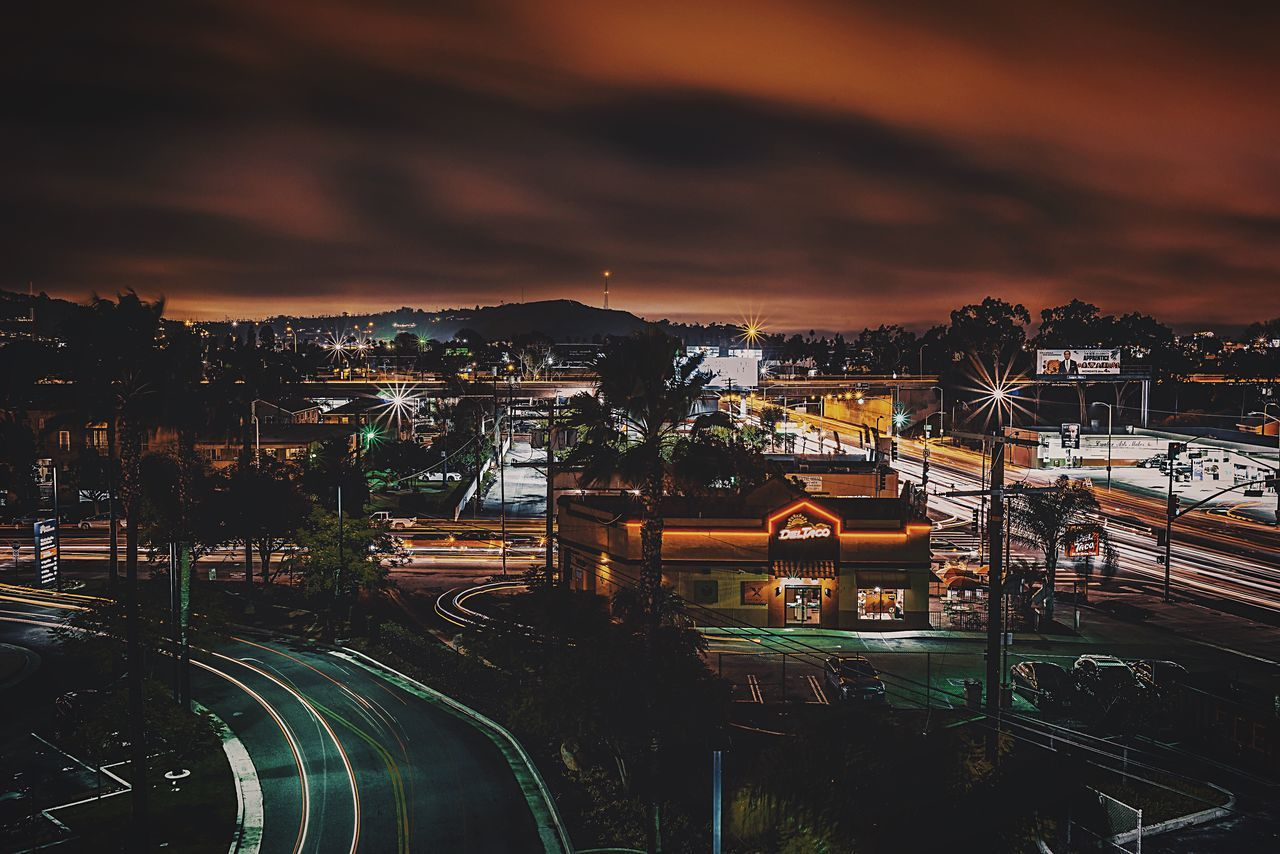 Taco Bell 👆 Transportation Illuminated High Angle View City Architecture Cloud - Sky Sky Night Building Exterior Built Structure Cityscape No People Outdoors Bridge - Man Made Structure Tacobell Gameoftones