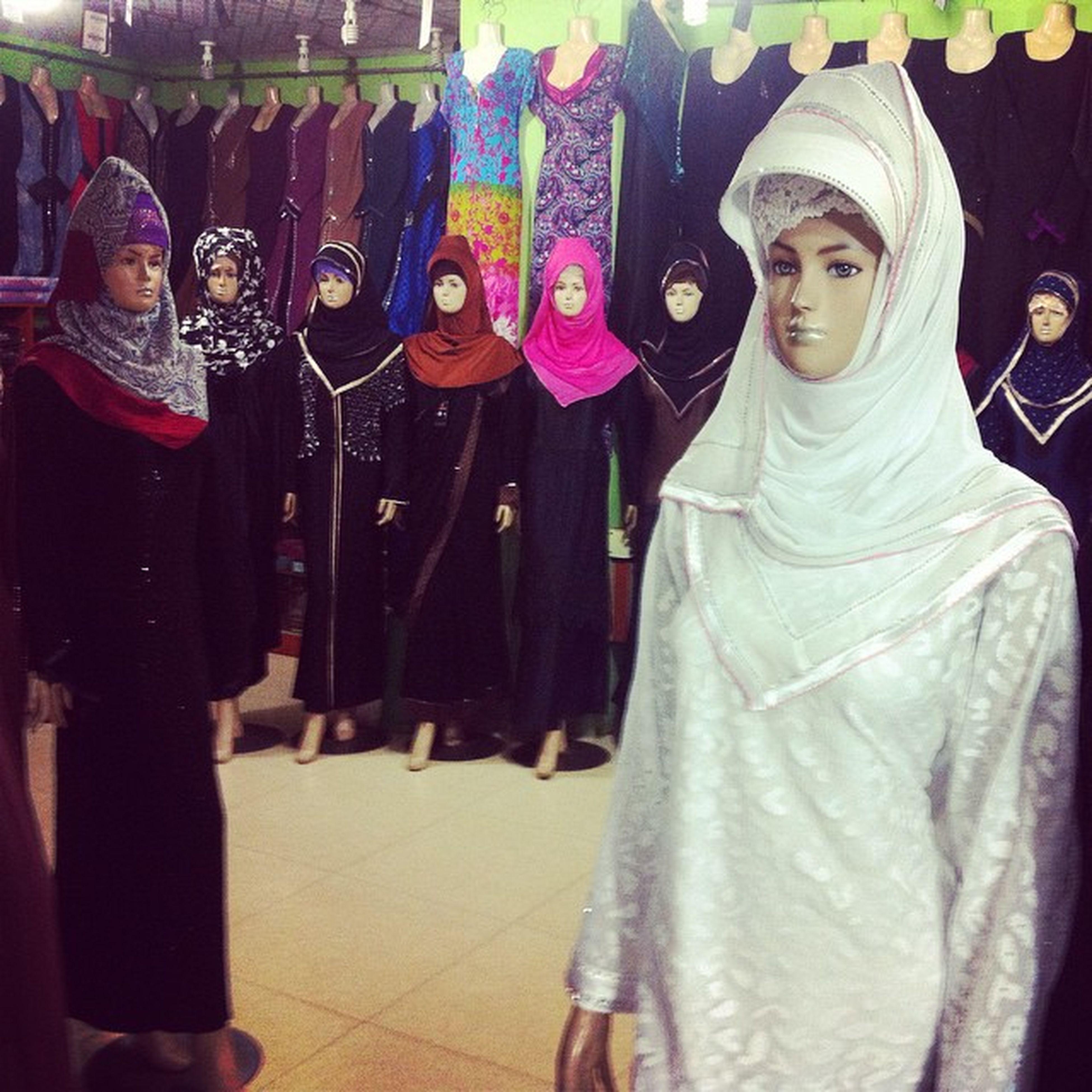 Hijab on display at shopping mall in Chittagong. Js Photographer Hijab Displlay Shoppingmall Mannequin IPhone Insta Photojournalism Documentary Opensociety Reportagespotlight Chittagong Bangladesh Chottogram Instagram Everydaybangladesh