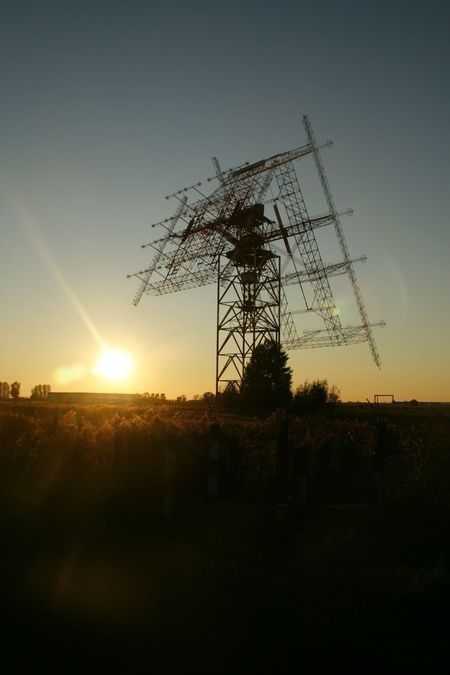 Sunset Technology Sky Tree Outdoors Horizontal Day Trafo Engeneering Current Mast Electricity Pylons High Voltage Electricity Line Electricity And Nature Field Flower Sunrise And Clouds No People Alternative Energy