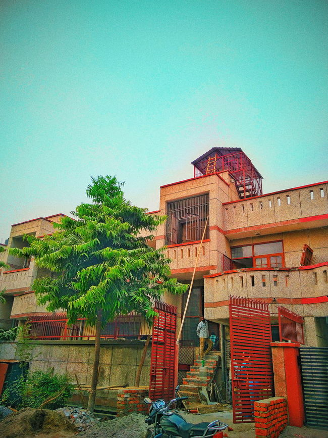 Low Angle View Architecture Built Structure Building Exterior Outdoors No People Day Tree Sky Clear Sky Nature Dreamhouses EyeEm Best Shots
