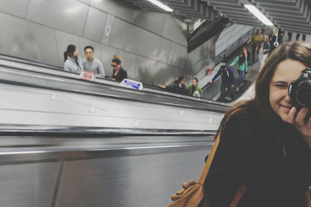 Underground London Underground Station  Taking Photos People Photography People Of EyeEm Underground Life Canon Subway Stairwell Subway Photography Underground Transportation Going Underground