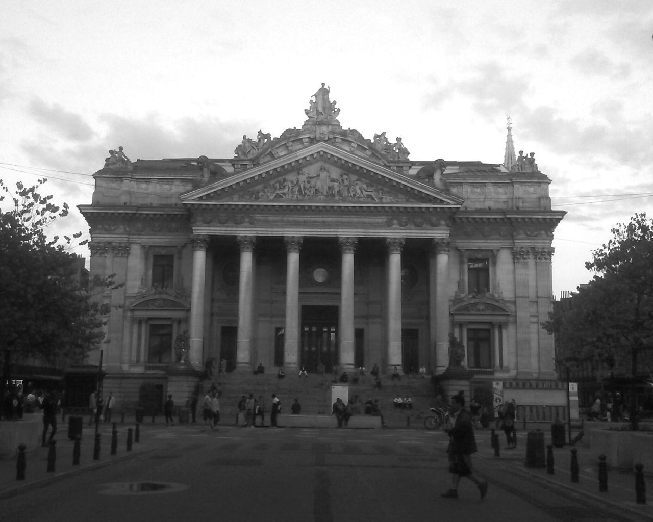 Beautiful stock photos of stock exchange, Architectural Column, Architecture, Brussels Stock Exchange, Building Exterior