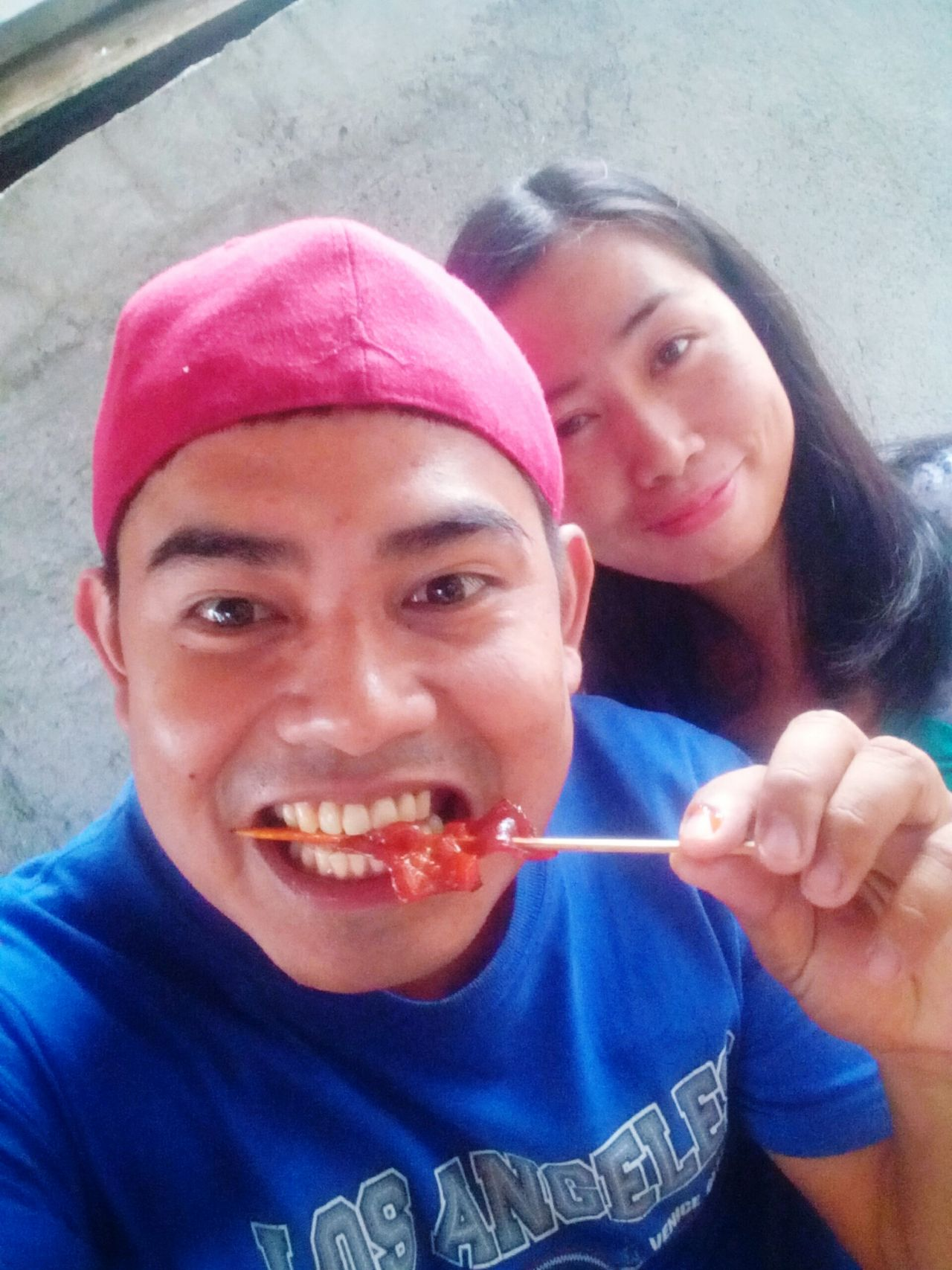 Barbecue BarbecueDay Barbecue Eat Love Eating Barbecue Eating Babrbecue With My Girlfriend Capturing Moments  Taking Photos Celebrating Love! Love Is In The Air Me And My Girlfriend  My Girl Red Cap Street Foods Streetphotography First Eyeem Photo Happy People Love