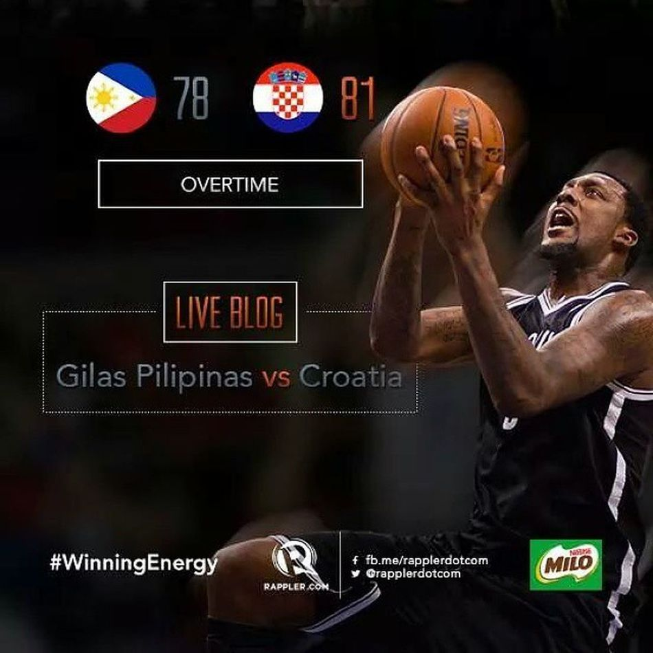 Proud of you Gilas! You sure showed the world that you're indeed a force to be reckoned with! ?❤??? LabanPilipinas Puso  Fiba2014