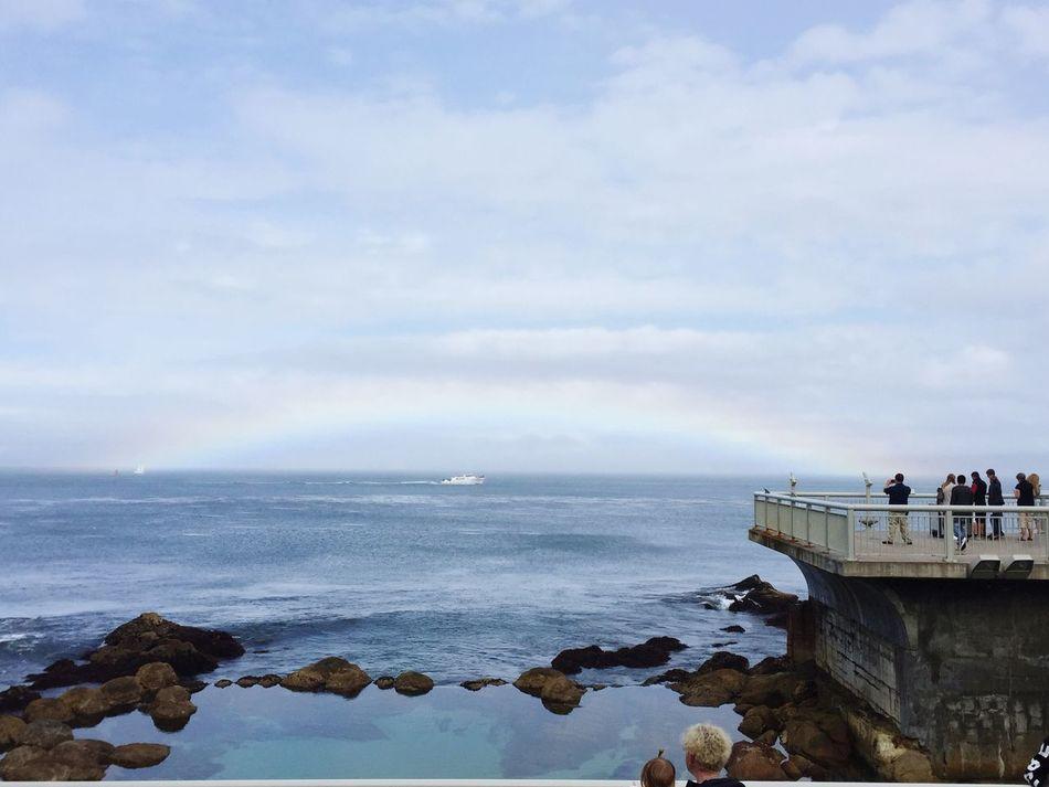 Rainbow Rainbows Boat Bay Monterey Monterey Bay Taking Photos