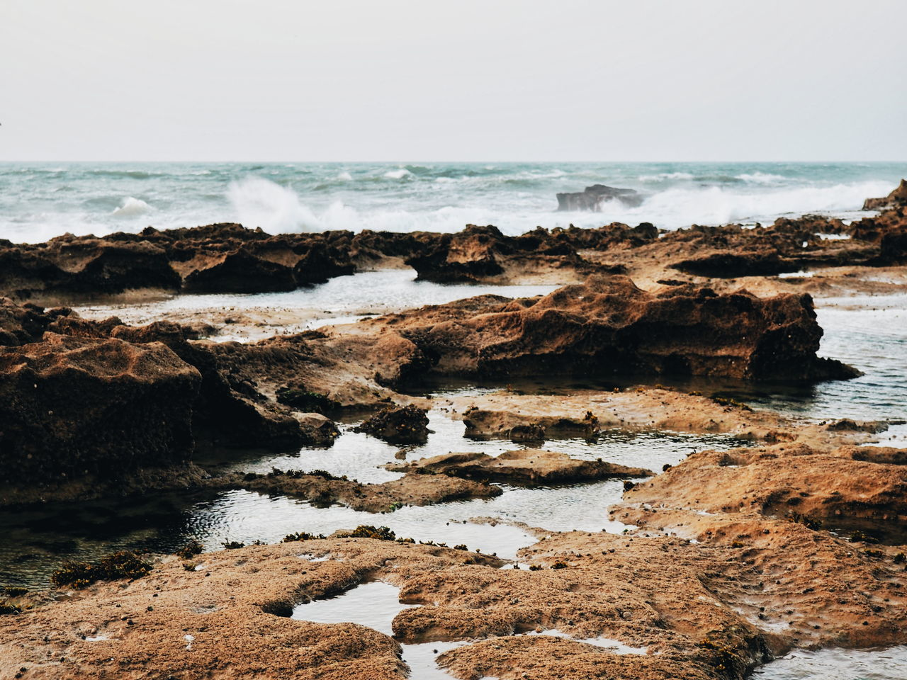 Sea Beach Nature Horizon Over Water Water Rock - Object Coastline Wave Day Scenics Sky No People Outdoors Beauty In Nature Beachphotography Rocks Rocks And Water Morocco 🇲🇦 Morocco Essaouira Nature Coastline Sea And Sky Nature_collection Travel Destinations