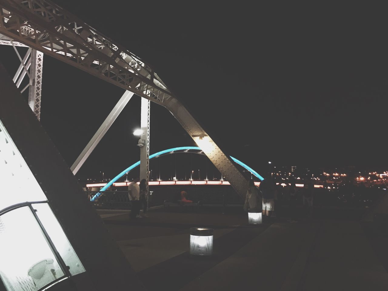 Architecture Built Structure Night Illuminated Transportation Bridge - Man Made Structure Travel Destinations City Connection Building Exterior Outdoors Sky Water