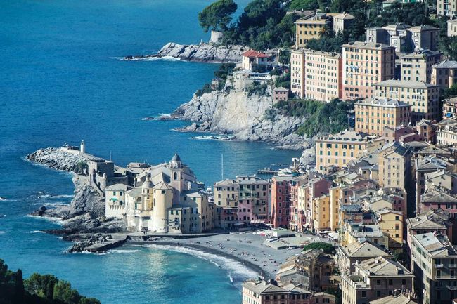 Camogli, Genova, Italy Sea Water Architecture Building Exterior Nautical Vessel Built Structure Transportation City Day Outdoors Travel Destinations Sky Tree Yacht Horizontal Cityscape No People Wake - Water Nature Landscape_Collection EyeEm Best Shots Fresh 3 Open Edit Eye4photography  Landscape Photography