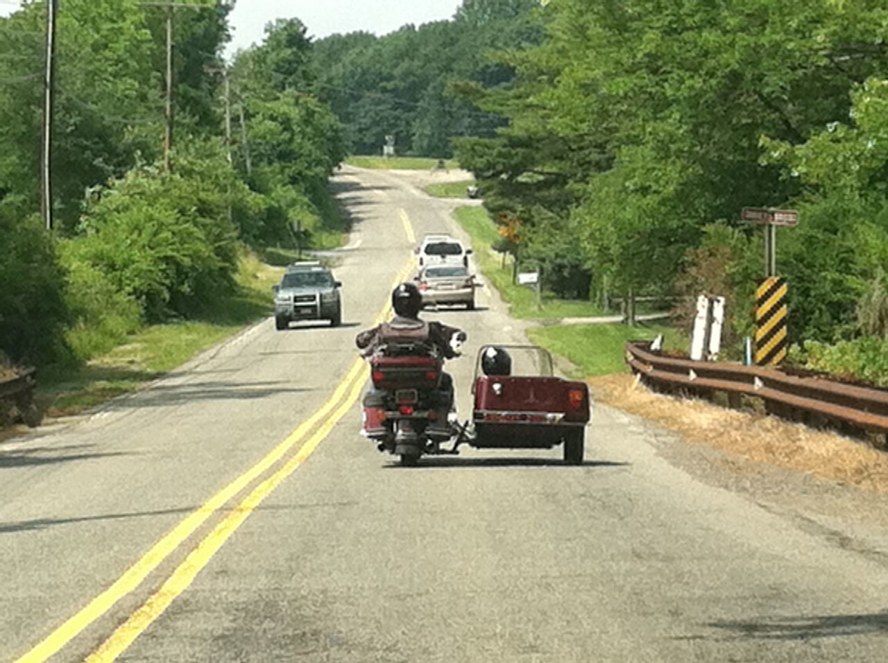 Country Country Road Countryside County Ride Day Enjoy The Ride Enjoying Life Land Vehicle Outdoors Road Side By Side Sidecar Sidecar Motorcycle Transportation Chance Encounters Happy People