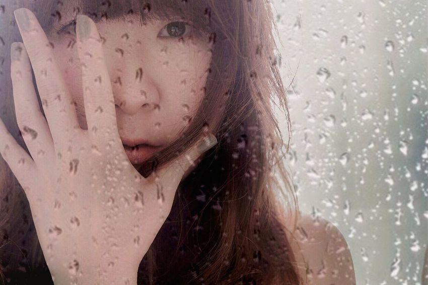 Portrait Of A Woman Self Portrait Selfie EyeEm Best Shots - People + Portrait The Human Condition Rain Rainy Days That's Me Light And Shadow EyeEm Best Edits EyeEm Best Shots EyeEm Gallery EyeEmBestPics Eye4photography