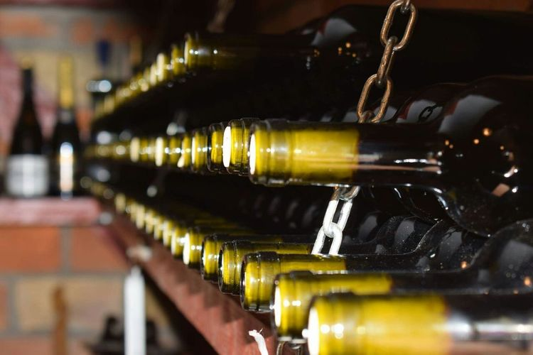 Wine Bottle Wine Bottle Food And Drink Alcohol Wine Cellar Drink Wine Rack In A Row Indoors  Winery Cellar Winemaking Large Group Of Objects No People Day Winetasting EyeEmNewHere