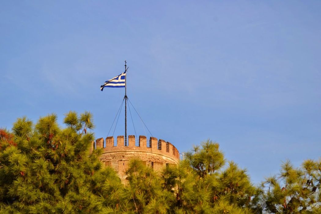 Thesaloniki White Tower Thessaloniki Tower White Tower Of Thessaloniki Greece Greek Greek Flag