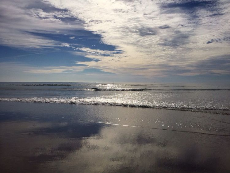 Colour Of Life Ocean Water Beach Serene Spirtual Seascape Peaceful Placid  Blue Sky Clouds And Sky Reflection Waves Infinité Infinity Glassy Water Smooth Sea