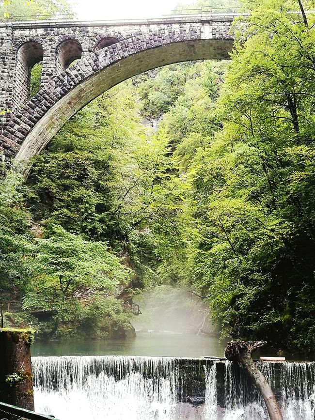 Taken at Vintgar gorge, in Slovenia . Bridge Water Stone Dam Vintgargorge HuaweiP9 Nature