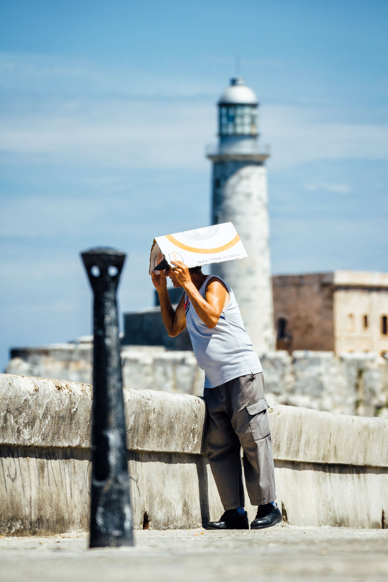 Architecture Built Structure Casual Clothing Cuban Cuban Life Full Length Getting Inspired Hot Leisure Activity Lifestyles Malecon Old Havana One Person Real People Sky Standing Streetphotography Summer Travel