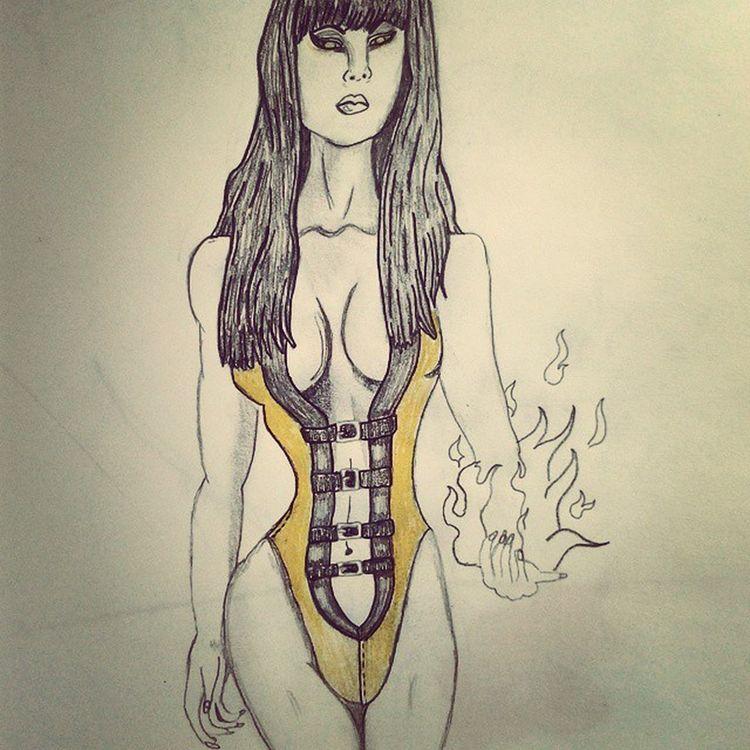 Just heard tanya is gonna be in Mortal Kombat X !!! Sketch by me Drawings MORTALKOMBATX Mkx Tanya Gamer