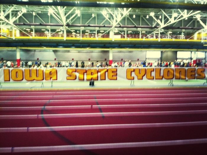 Indoor meet at Iowa State! Ready to run...