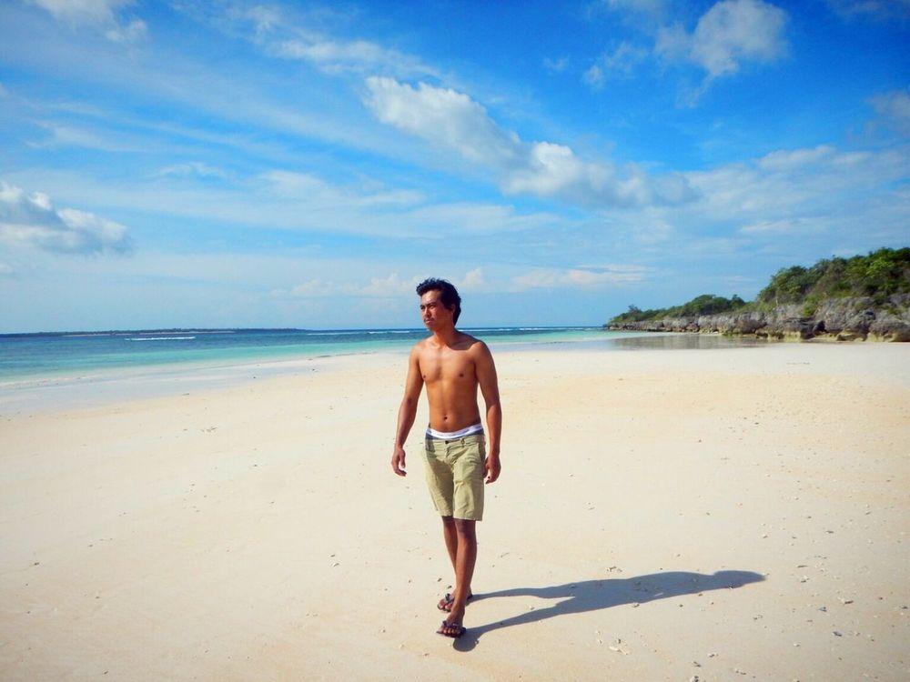 walking In the line of coast. Beautifuldestination Travelling Life Is A Beach EyeEm Indonesia Barabeach South Celebes Wonderful Indonesia White Sand Beach