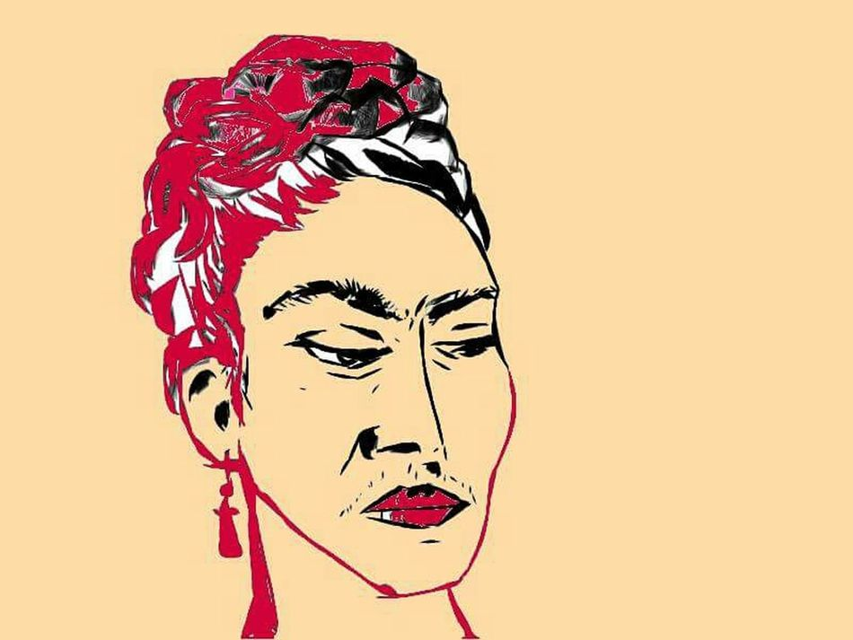 Frida Kahlo portret Color Portrait Pic Almakku Cooll