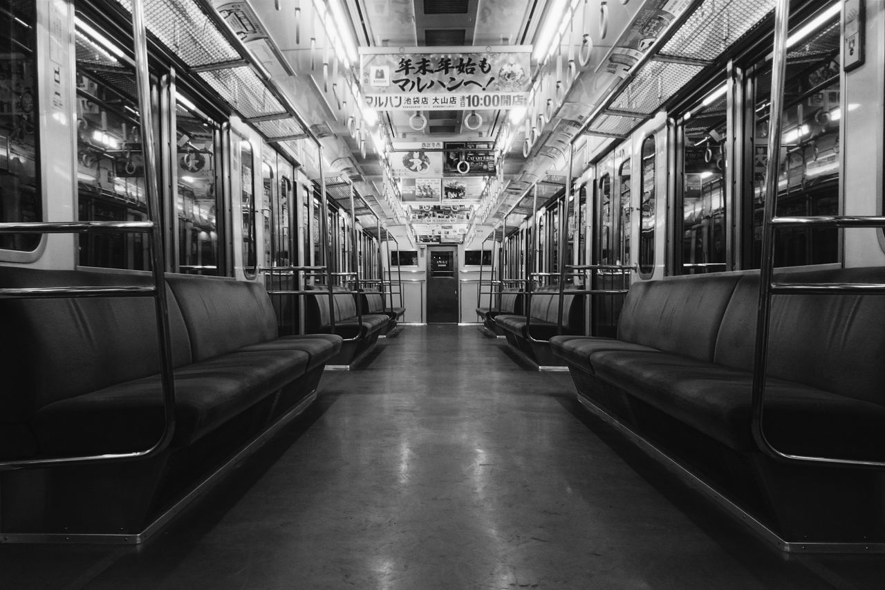 Empty Places Train JR Line Tokyo,Japan Tokyo Street Photography Blackandwhitephotography Light And Shadow Trainphotography Empty Seats StillLifePhotography
