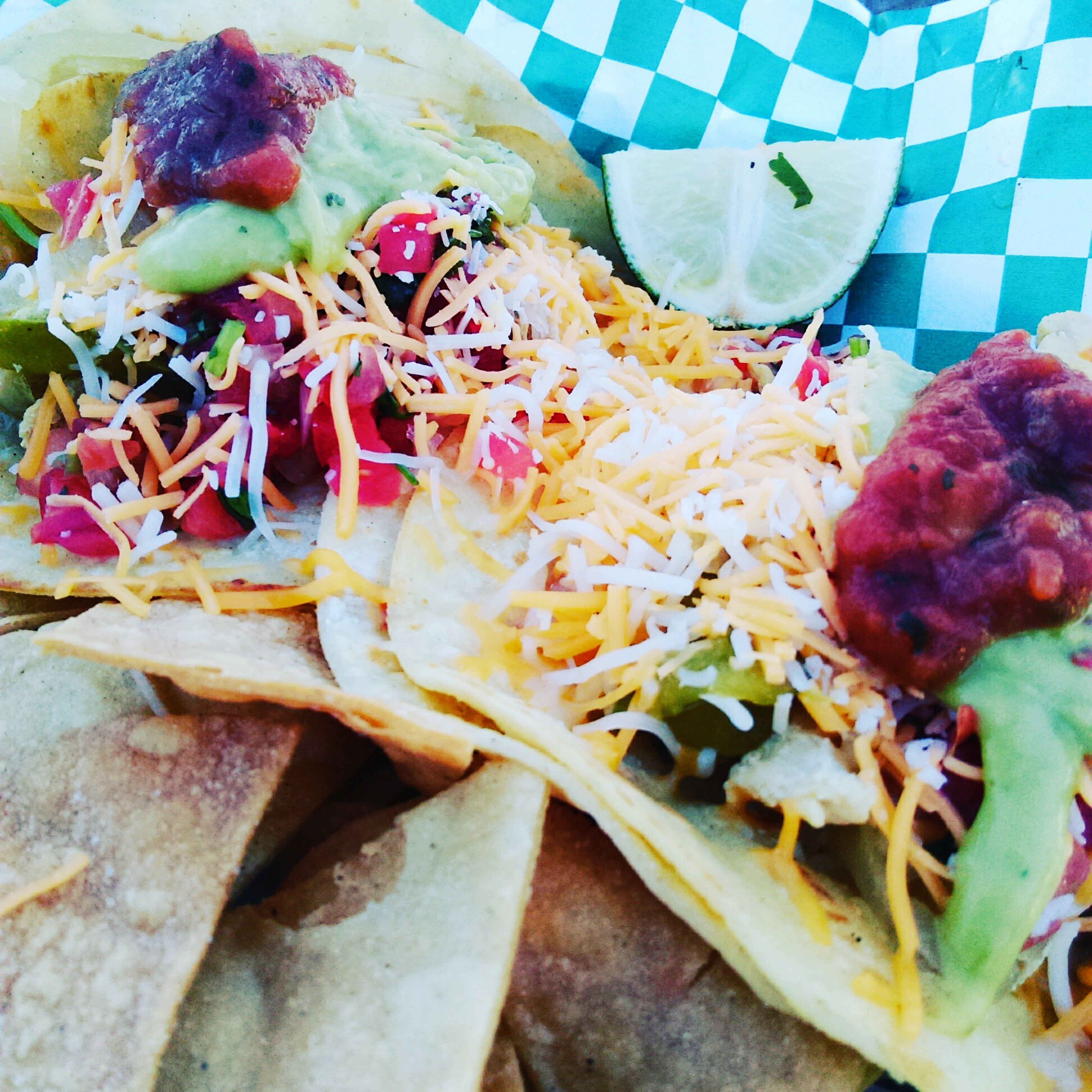 Yum! Chicken fajita Tacos from QuesoGood Foodtruck at the Ahwatukee Eats Food Truck Picnic.