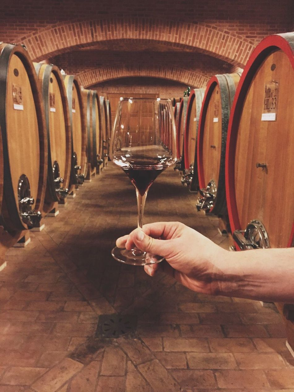 Wine Moments Brunello Brunellodimontacino2010 Human Hand One Person Indoors  Winemaking Holding Alcohol Wine Winetasting