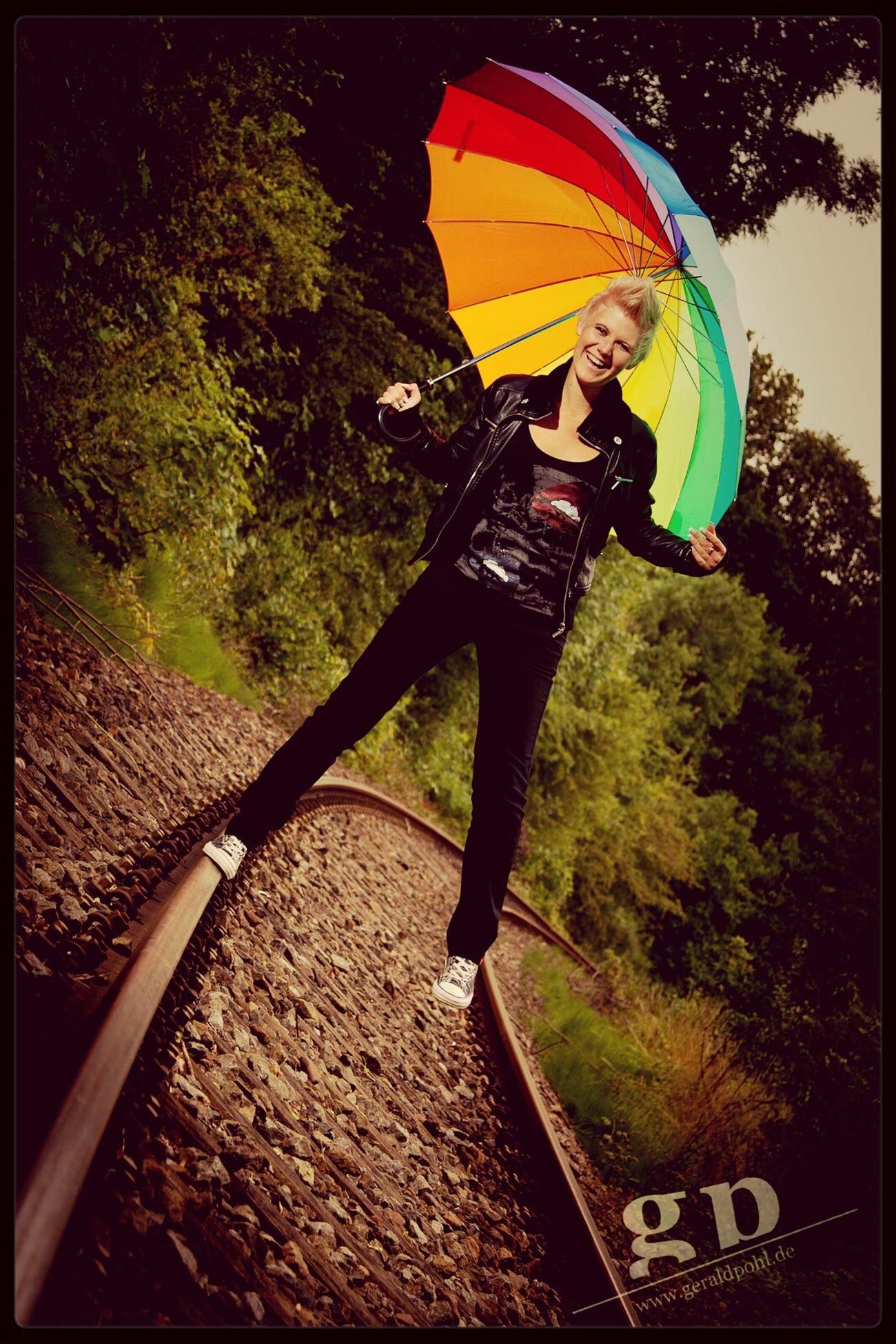 Littlebubble89 Shooting Gleise Regenschirm
