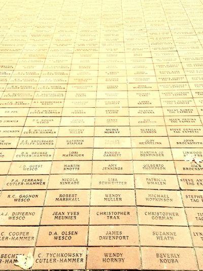 Brick Names Centennial Park  Ground Stone Tribute