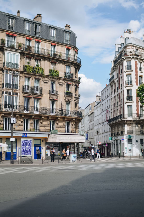 Streets of Paris France Paris Travel Architecture Building Exterior Buildings Built Structure City Day No People Outdoors Real Estate Real Estate Market Real Estate Photography Sky Street Streetlevelphotography Travel Destinations Urban Urbanphotography