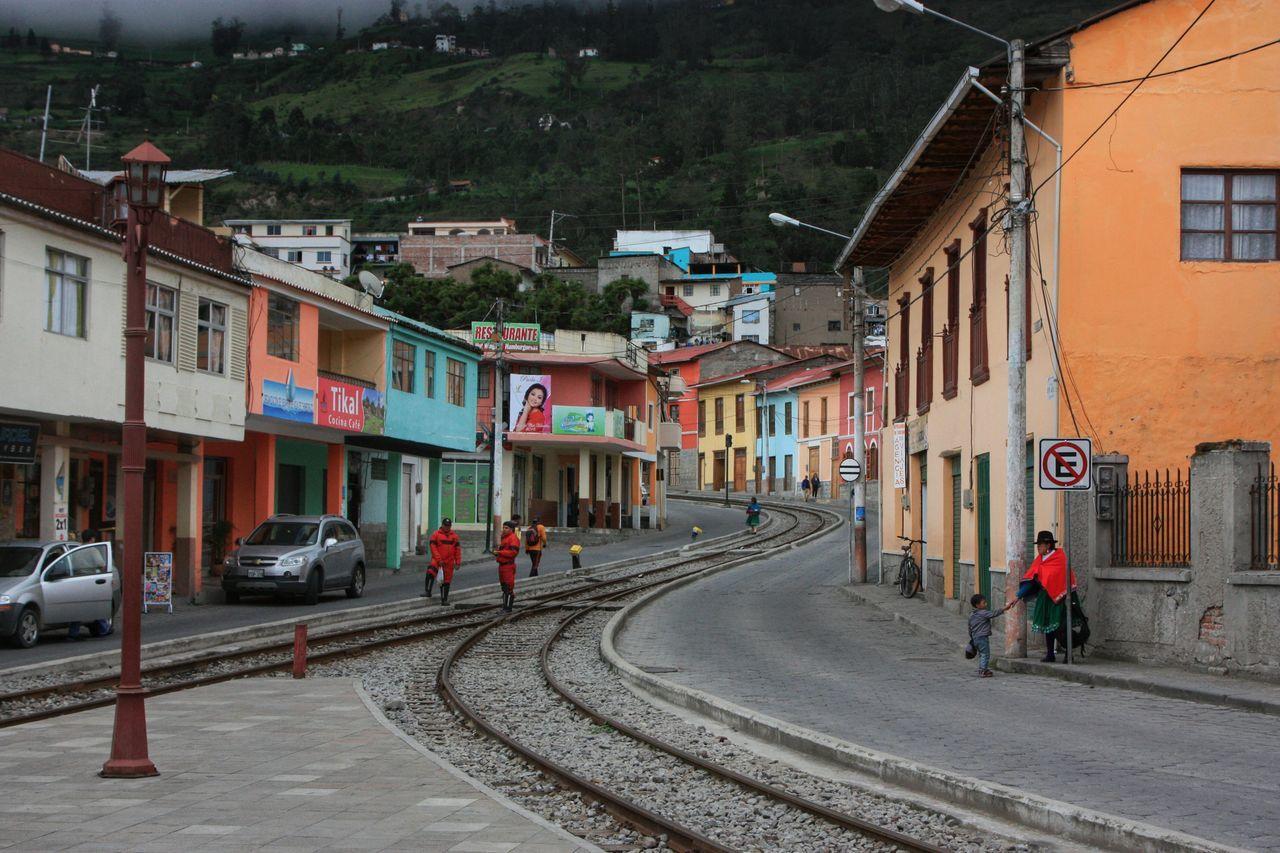 Alousi Ecuador City Life Train Tracks People Watching Architecture Mountain Town Showcase April