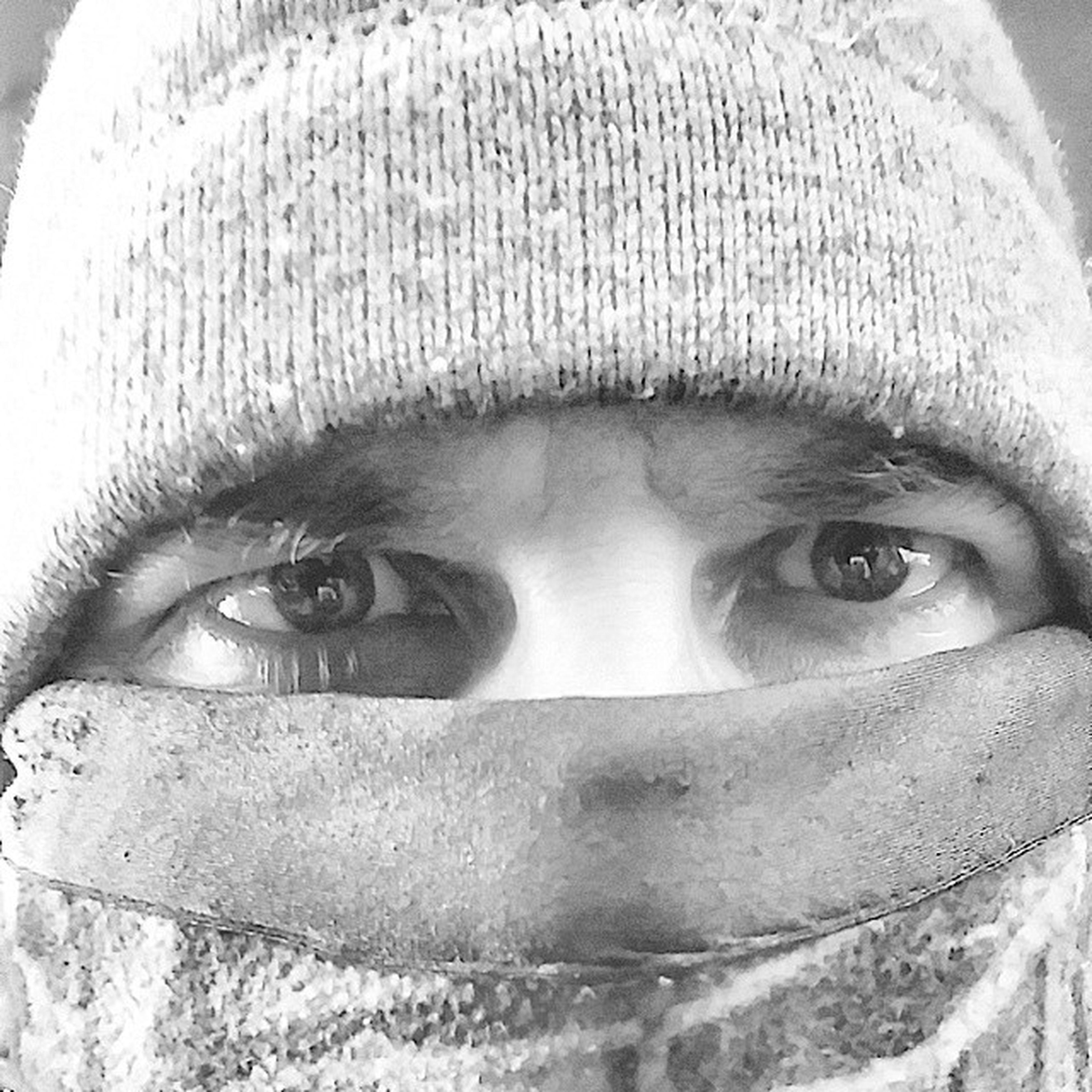 Winterninja Colddays Winter Frostbitekills missingthebeachrightnow Enjoying Life People People Of EyeEm Self Portrait Black And White