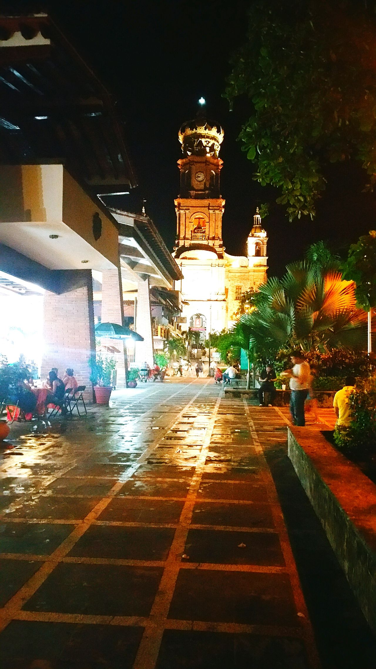 puertovallarta Architecture Puertovallartajalisco Built Structure Place Of Worship Church Travel Destinations Building Exterior Illuminated Outdoors Nuestraseñoradeguadalupechurch