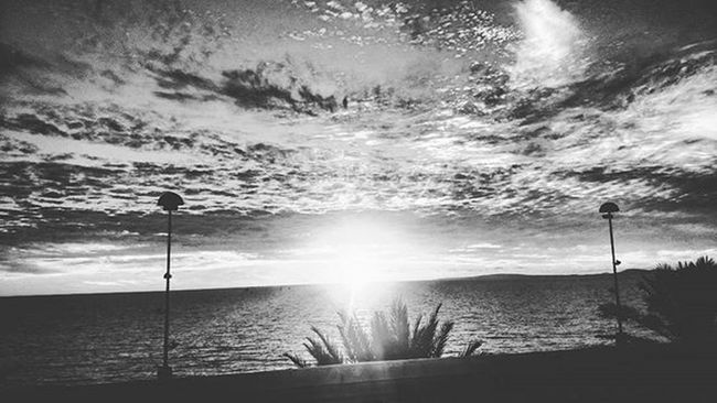 Blackandwhite Sunset Mallorca Platjadepalma