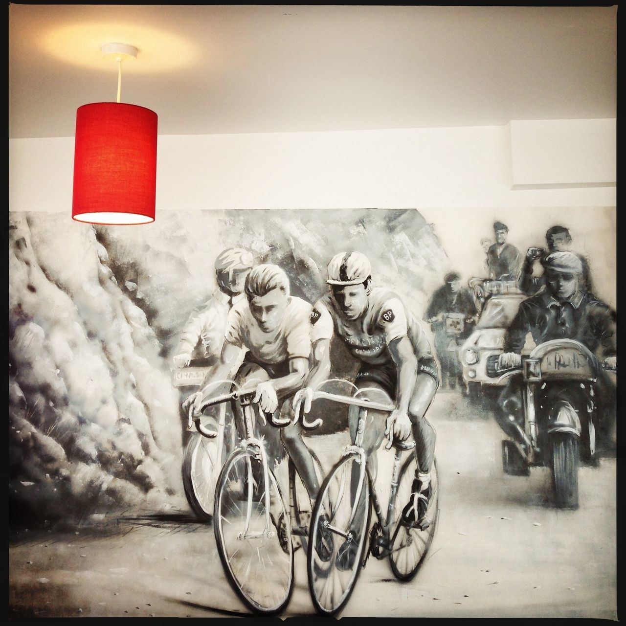 Epic cycling mural Cycling Mural Oggl
