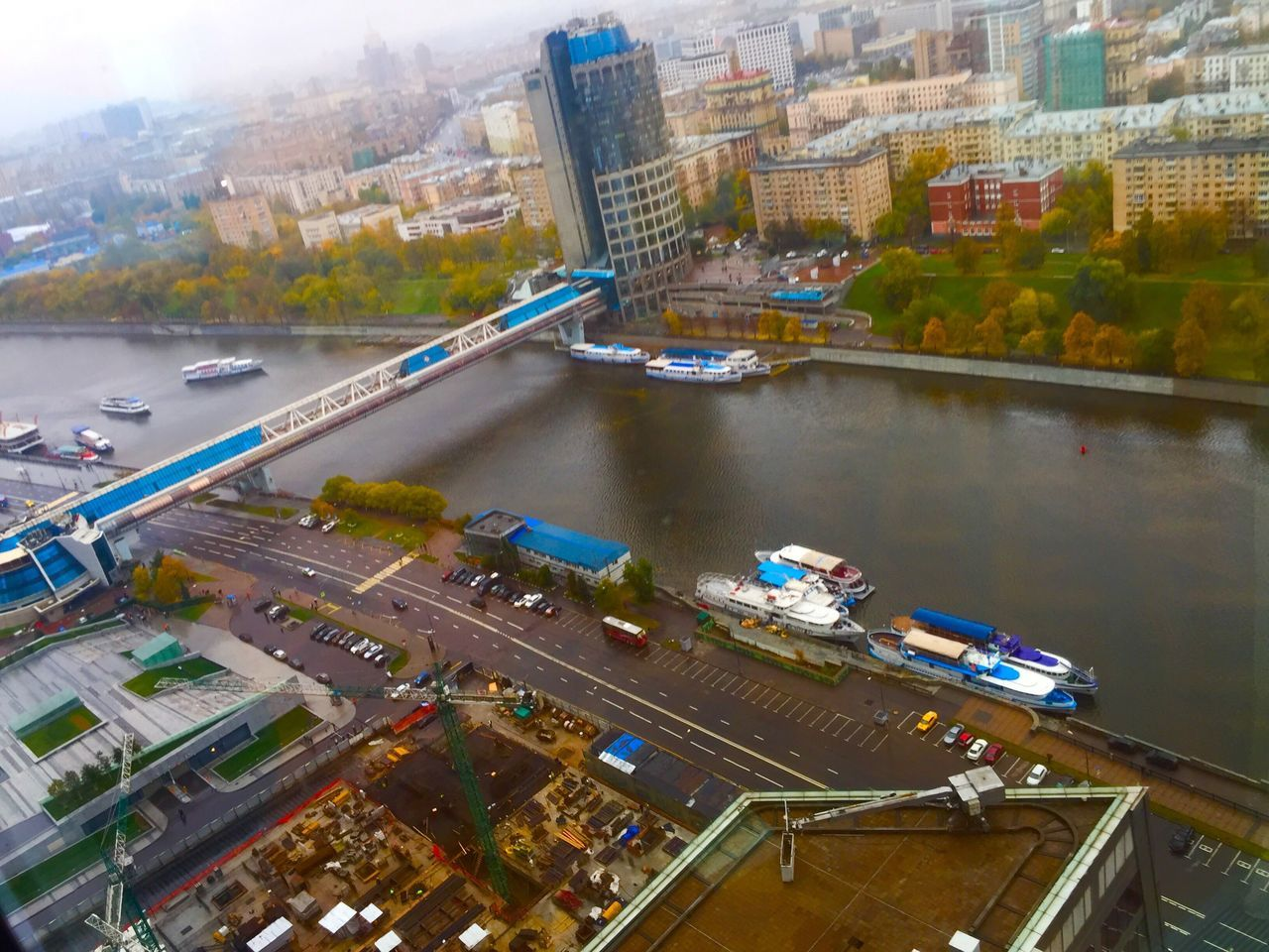Moscow City Lavoro City Architecture Building Exterior High Angle View Built Structure Cityscape Water Skyscraper River Transportation No People Outdoors Day Tree Modern Urban Skyline Nautical Vessel Reinyday Best Place On Earth Welcome My Country My People