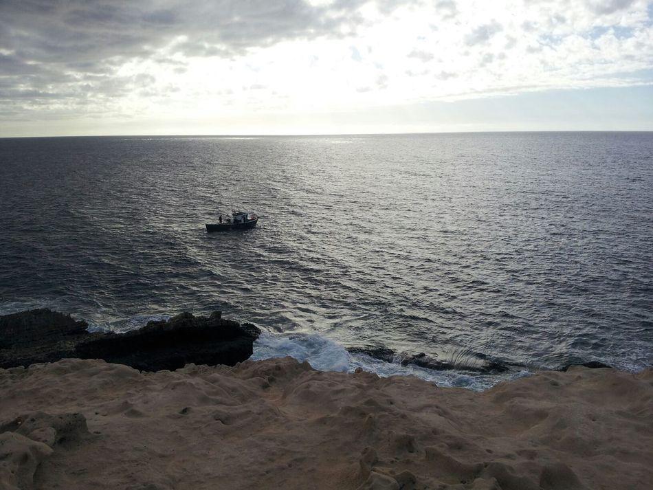 Ajuy (Fuerteventura, Spain) Fuerteventura Sea Boat Sunset