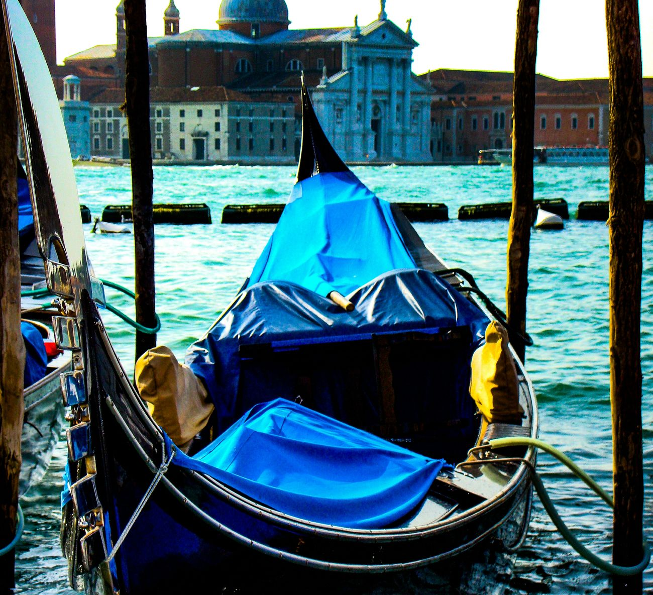 Venice Italy Gondolas Mode Of Transport No People Moored Gondola - Traditional Boat Architecture Water Outdoors Canals Venice Seascapes Canals And Waterways Tourism Day Transportation Canal Grande Beauty In Nature Italiano Landscape_Collection Transportation Venetian Travel Destinations Italy Holidays Gondolas Venice Gondola