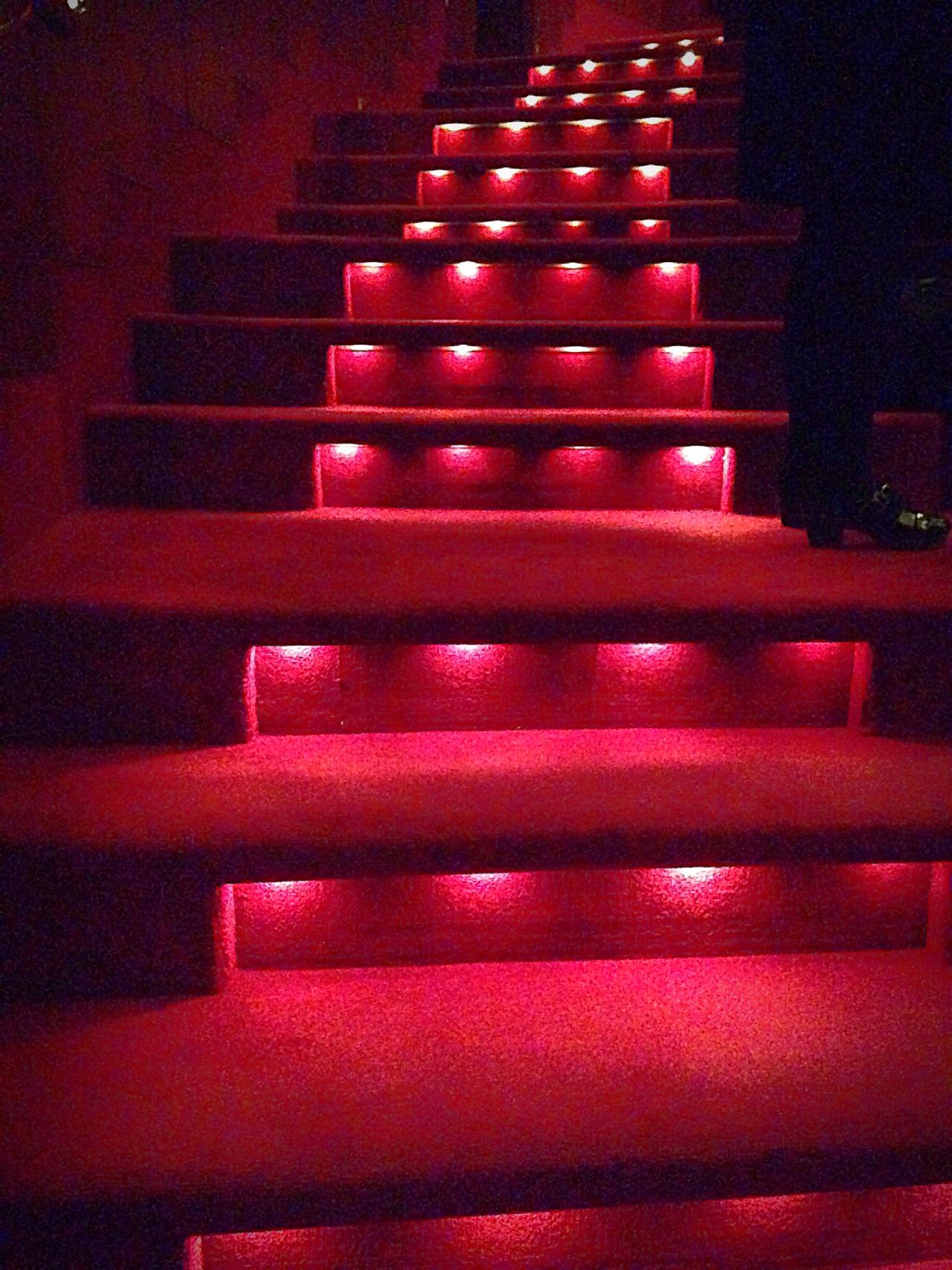 Romance Stairs Carpet Mood Lighting  Going Up No People Theatre Playhouse Ballet Melbourne Art Centre Interior Design Hidden Lights Red Light Red Carpet