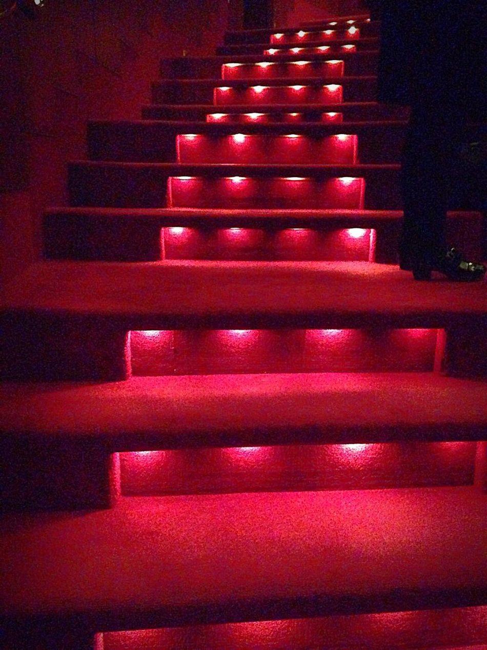 Romance Stairs Carpet Mood Lighting  Going Up No People Theatre Playhouse Ballet Melbourne Art Centre Interior Design Hidden Lights Red Light Red Carpet