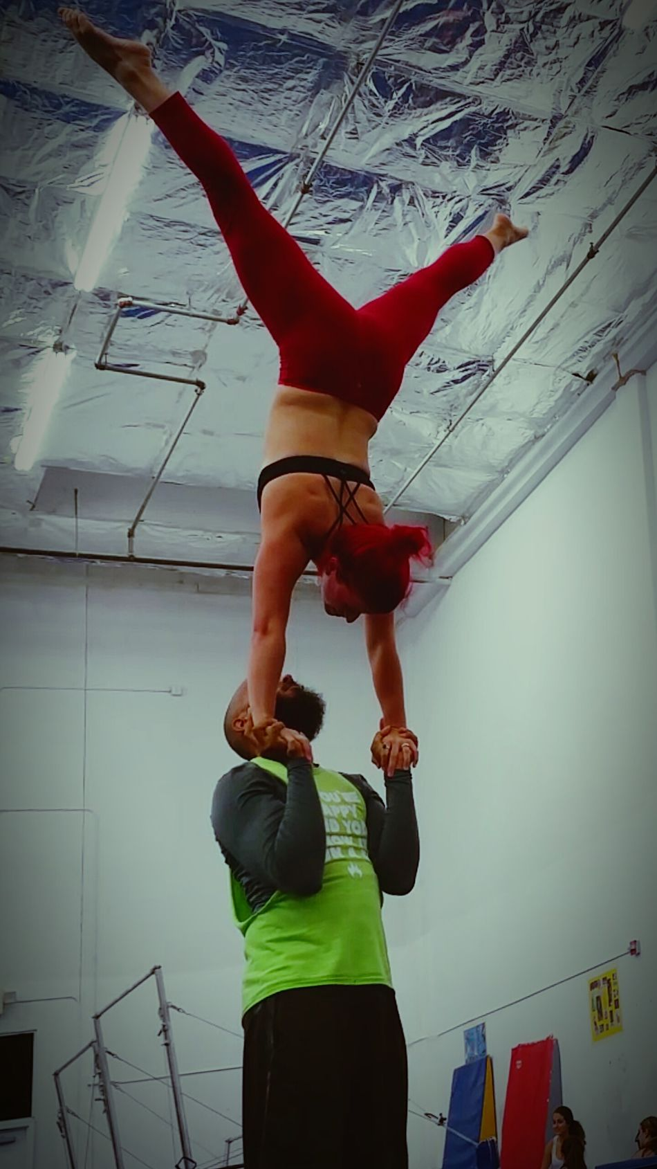 Acroyoga Cirque Circus when you don't go to a regular gym, this happens!