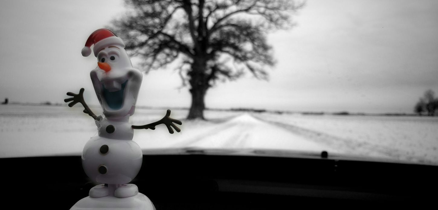 Olaf is so Happy it Snowed...it Was Getting Just a Bit Warm for Him Lately 😰😜...Happy Friday 😊💙... Winter Cold Temperature Snow Tree Outdoors No People Check This Out From My Point Of View Road The Way Forward Beauty In Nature EyeEm Nature Lover Nature Photography Mylife Funwitholaf LovetheSimpleThings
