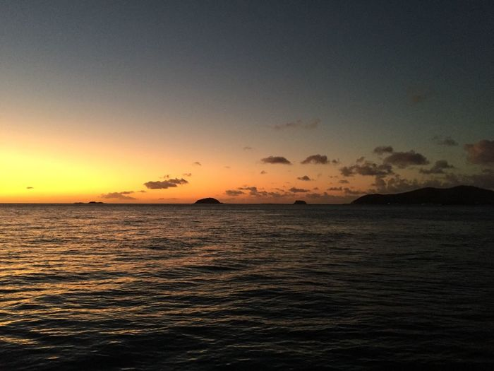 Sea Water Scenics Sunset Tranquil Scene Tranquility Horizon Over Water Whitsunday Islands Landscape Australia Waterfront Seascape Idyllic Sky Nature Cloud Rippled Calm Ocean Outdoors Blue Dramatic Sky