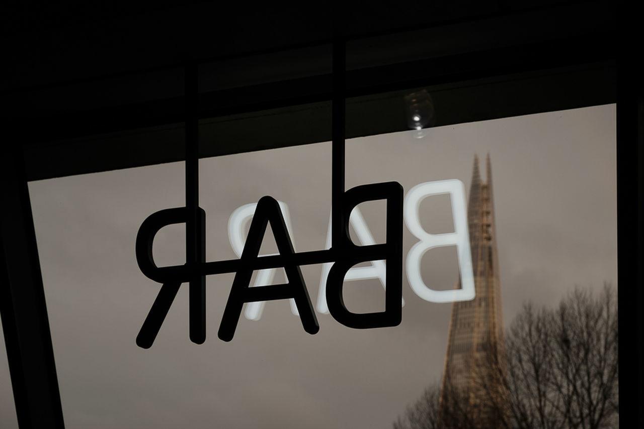 BAR Bar Communication Light Museum Reflection Restaurant Shard Text