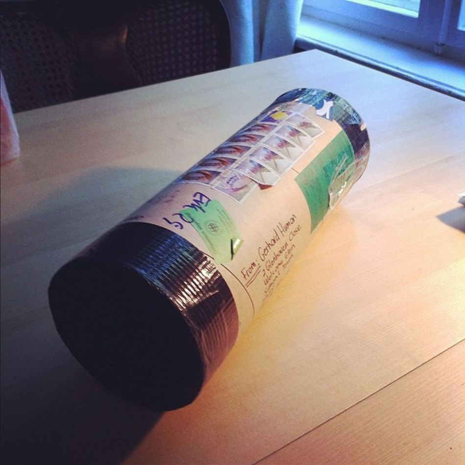 Finally got my #gerhardhuman print. Crazy customs hung onto it for over a month Grrrr Gerhardhuman