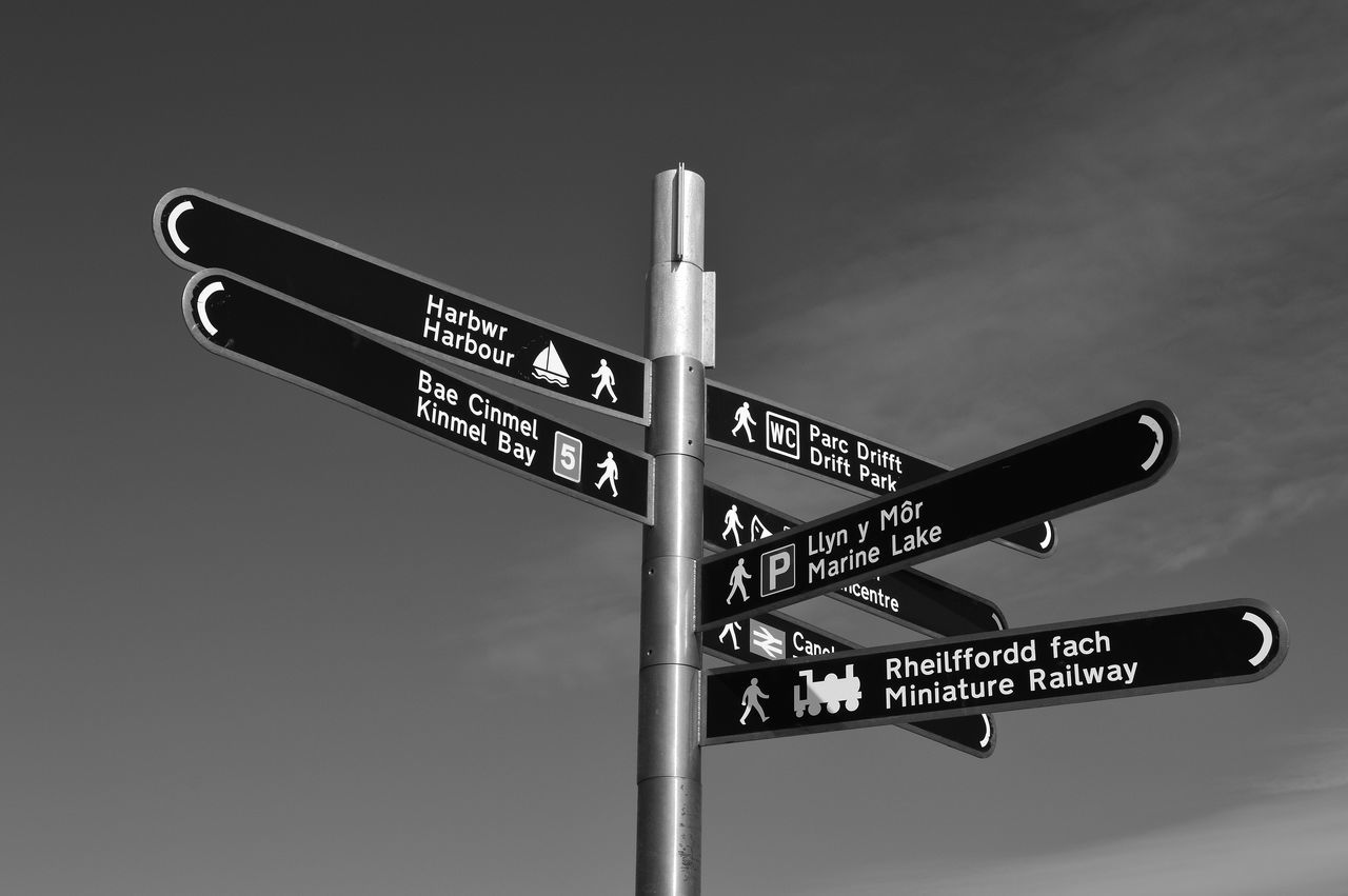 Black And White Blackandwhite Blsckandwhite Check This Out Communication Day Enjoying Life Follow4follow Hello World Light And Shadow Neon Nikon Nikon D3200 No People Outdoors Road Sign Sign Sky Taking Photos Which Way?